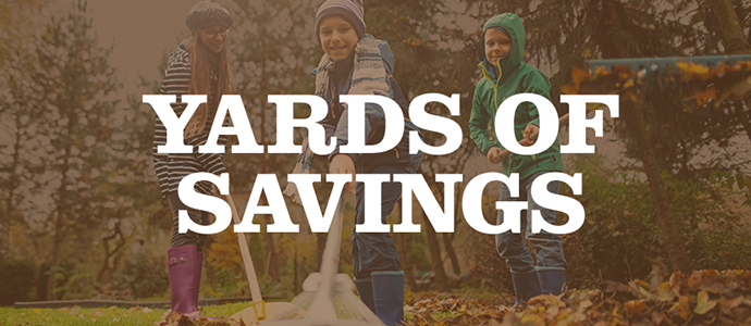 Yards of Savings