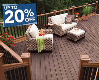 Up To 20% OFF Trex Decking & Installation when Installed by McLendon Home Services