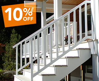 10% OFF Clearview Aluminum Railing when Installed by McLendon Home Services
